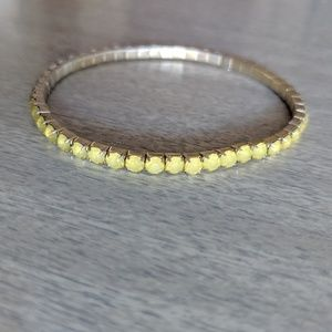 Yellow/Green Elastic Gem Bracelet